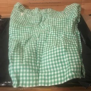Green Polo Ralph Lauren Linen 8 inch shorts